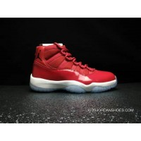 3b164180b35588 2017 Air Jordan 11 Win Like 96 Gym Red Black-White New Style