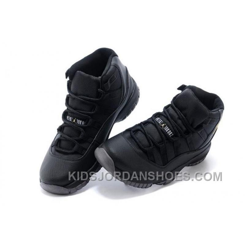 buy online f1007 842ae ... Charcoal Black And Gold Jordan 11 Men Basketball Shoes Free Shipping  Online PnB7Kr ...
