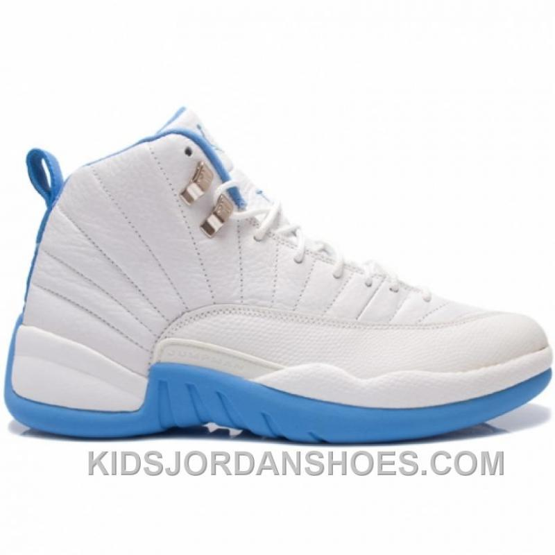 7276a5471081 Air Jordan 12 Retro Melo White University Blue Metallic Silver ...