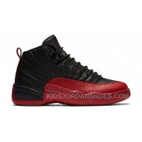 "Authentic 130690-002 Air Jordan 12 Retro ""Flu Game"" Black/Varsity Red X7cmj"