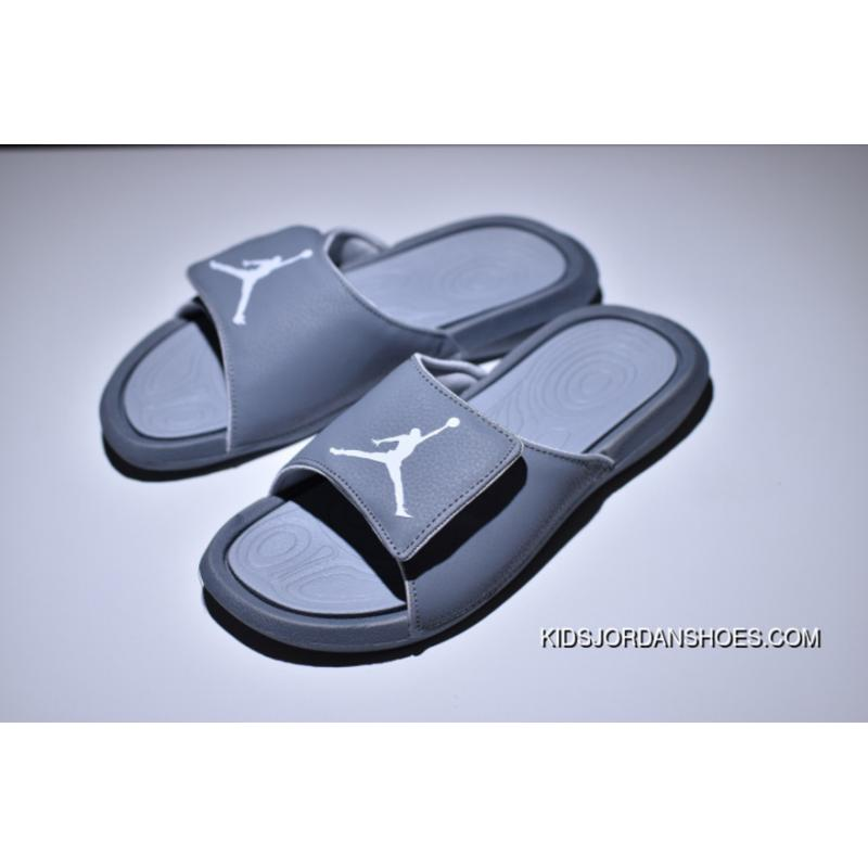 fd401ad8c5c1cd Air Jordan Hydro 6 Sandals All Grey Women Men Top Deals