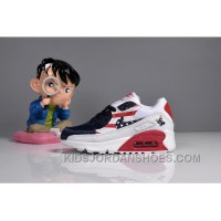 073 MAX 90 Nike Kids Air Max 90 American Flag White Blue Red Cheap To Buy JHY62