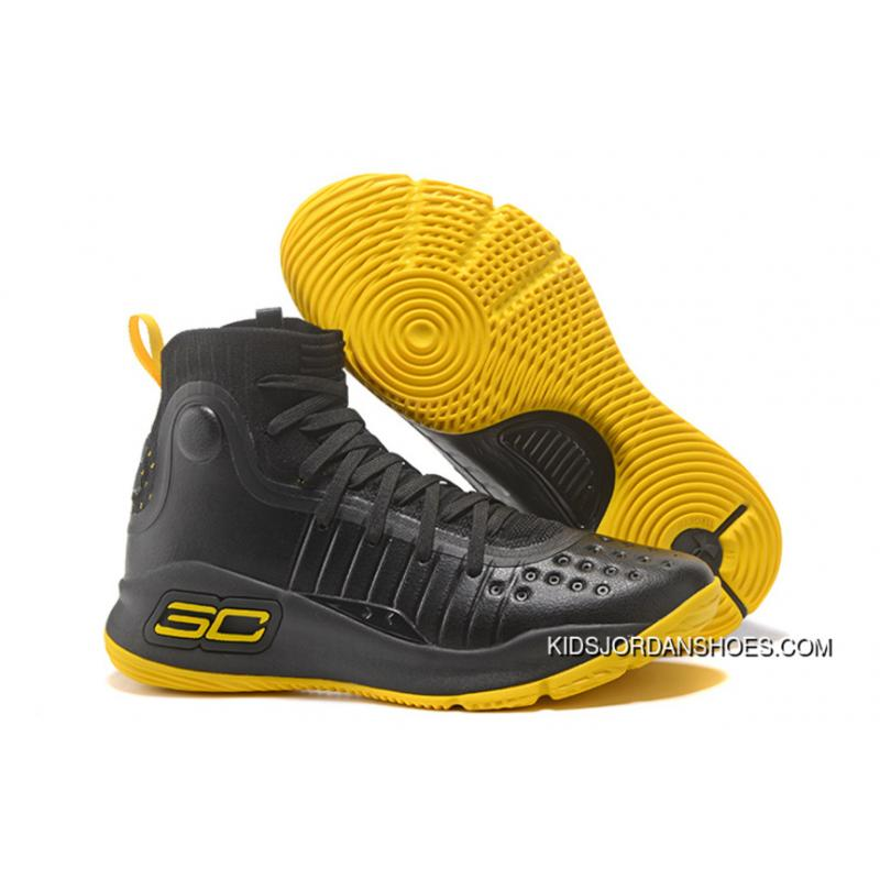 competitive price a9114 2d668 Big Kids UA Curry 4 BLACK YELLOW Best