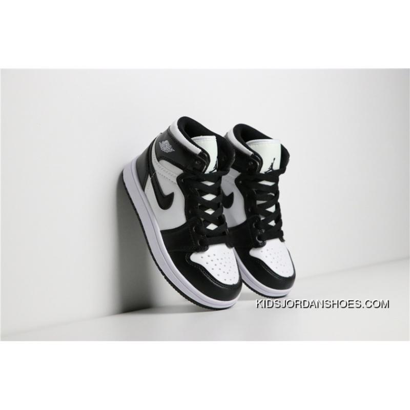 separation shoes 873d7 878f6 Copuon Jordan Air 1 AJ1 1 Kids Shoes Black White