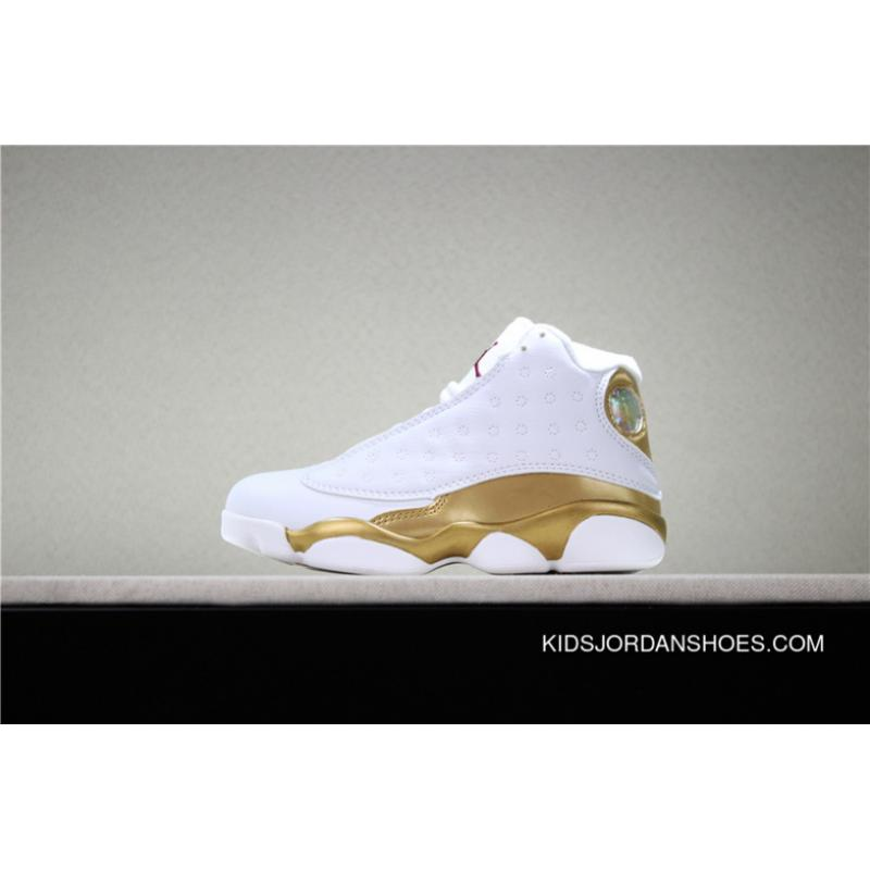 innovative design 57ad1 e23bc Best Jordan Air Kids Shoes Aj13 13 Basketball Shoes Kids Shoes Big Kids 13  Panda White Gold