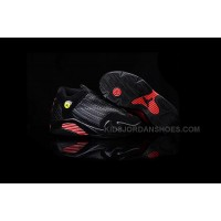 Kids Air Jordan 14 Retro Black Red