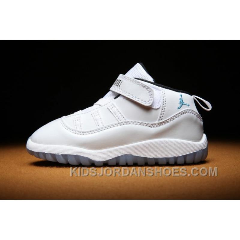 low priced d88e9 e49d2 Kids Air Jordan 11 Toddler All White YWtnf