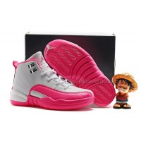 AJ12 kids air jordan 12 White Pink 28---35