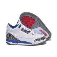 Nike Air Jordan 3 Kids White Blue Red