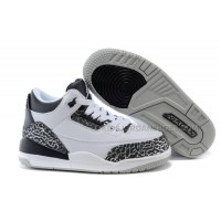 Cheap Jordan 3 Kids Metallic Silver For Sale Wolf Grey / Metallic Silver-Black-White