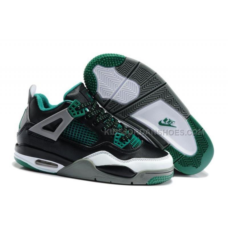 wholesale dealer 6d6ca ed681 Nike Air Jordan 4 Kids Black Green Grey, Price: $79.00 - Kids Jordan ...