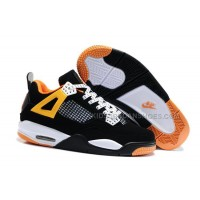 Nike Air Jordan 4 Kids Black White Orange