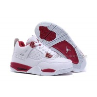 Kids Air Jordan 4 IV Alternate 89 White Gym Red For Sale