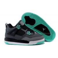 Kid Jordan 4 Shoes IV Green Glow -Dark Grey/Green Glow/Cement Grey/Black