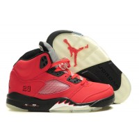 Kids Jordan 5 Raging Bull Varsity Red Black