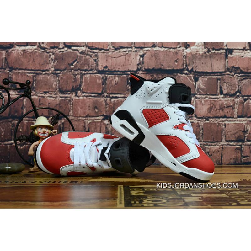 wholesale dealer 8da08 e21c3 Kids Jordan 6 White Red AIR JORDAN 6 RETRO BG (GS)