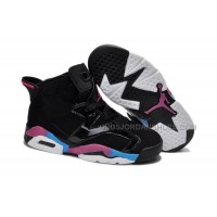 Nike Air Jordan 6 Kids Black Pink Blue