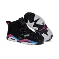Kids Jordan 6 Retro Black New Blue