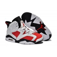 Kids Jordan 6 Retro White Carmine Black