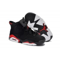 Kids Jordan 6 Retro Black Deep Infrared