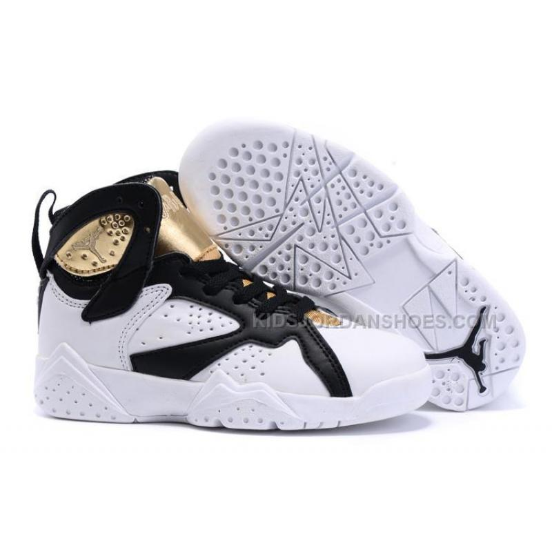 Nike Air Jordan 7 Retro CC Championship Pack Champagne White Metallic Gold  Black Kids Shoes ...