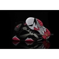 low cost a9932 ced2b Nike Air Jordan 7 Retro GS Black Silver Red Sneakers Kids Basketball Shoes  442950 008