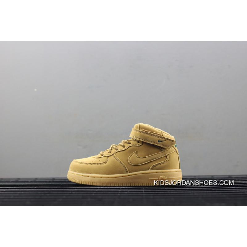newest 28b0e d70a5 New Release Nike Air Force 1 Mid Infant Mid Top Kids Shoes 859338-200