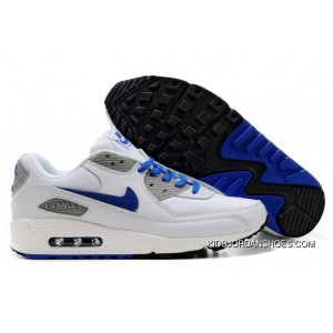 buty jesienne miło tanio hurtownia online Mens Nike Air Max 90 Shoes White Grey Blue,nike Free Run Kids,nike Roshe  Flyknit,Available To Buy Online Best