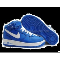 Nike Air Force 1 Mid Blue White Womens Sneakers
