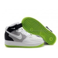 Nike Air Force 1 Mid Neon Black White Grey Green Sneakers