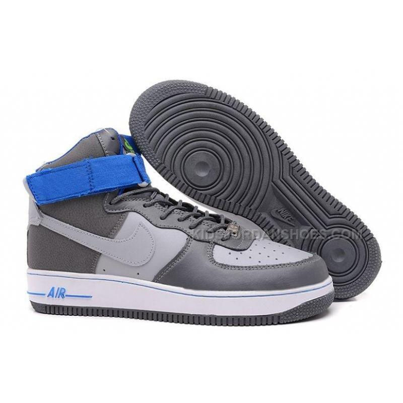 Nike Air Force 1 Mid Grey Blue White Shoes Price 54 00 Kids