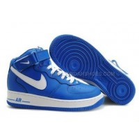 Nike Air Force 1 Mid White/Blue Sneakers