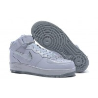Nike Air Force 1 Mid White/Silver Shoes