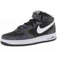 Nike Air Force 1 Mid Black/White Sports Shoes