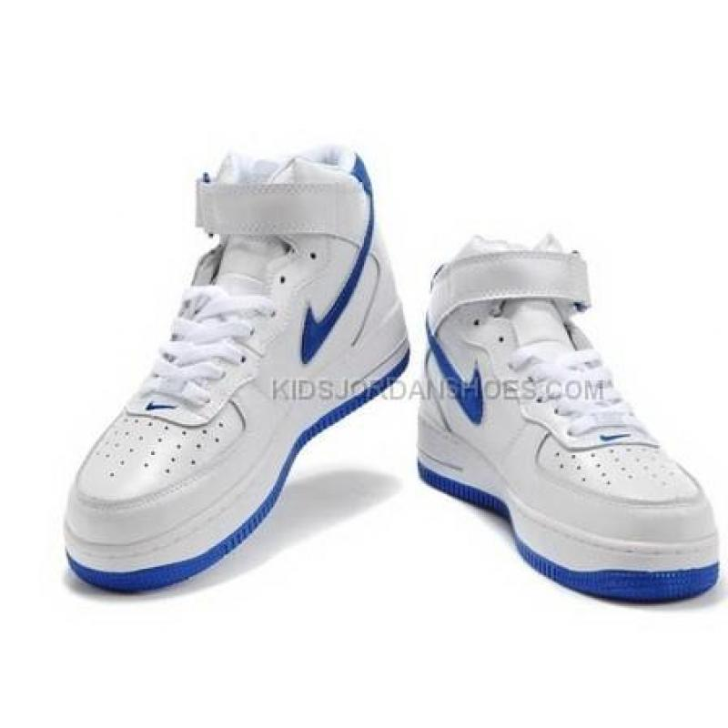 Nike Air Force 1 Mid White Grey Royal Blue Sneakers Price 54 00