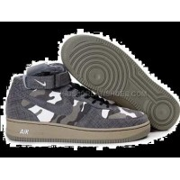 Mens Nike Air Force 1 Mid Slate Grey Tennis Shoes