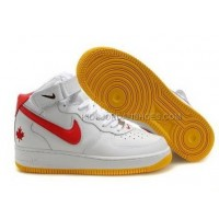 Nike Air Force 1 Mid Orange/White Sneakers