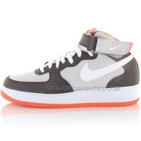 Nike Air Force 1 Mid Shoes Grey/White/Pink