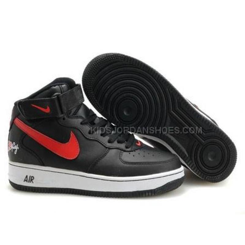 1 Shoes Force Sports Mens Nike Air Mid Blackwhitered WE9IYbeDH2