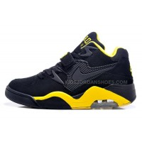 Nike Air Force 180 Mid Charles Barkley Black/Black-Yellow For Sale