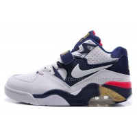 Nike Air Force 180 Mid Charles Barkley White/White-Midnight Navy-Metallic Gold For Sale