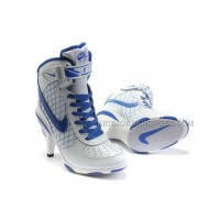 Nike Air Force 1 Heels Ankle Boots White Blue Fashion Cheap