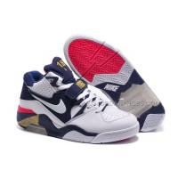 Cheap Nike Air Force 180 Mid Charles Barkley White-Midnight Navy-Gold