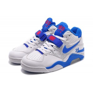 Cheap Nike Air Force 180 Mid Charles Barkley White/Photo Blue-Red