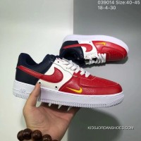 Three Color Match 130 Nike Air Force One Soft Skin Color Matching Independence Day Low Sneakers Size 18 4 30 039014 For Sale