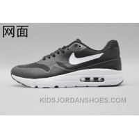 Nike Air Max 1 Ultra Flyknit 87 Oreo Black White Men Women Free Shipping YHrS8
