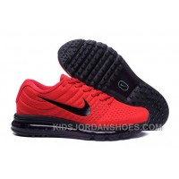 Authentic Nike Air Max 2017 Red Black Black Discount Bx6T4
