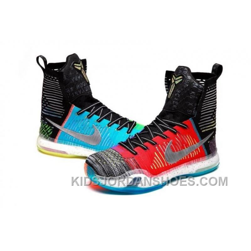 "premium selection ea8e8 af78c ... Nike Kobe 10 Elite High SE ""What The"" Multi-color Reflective Silver ..."