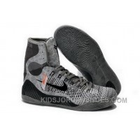 Buy Cheap Nike Kobe 9 2014 High Top Grey Black Mens Shoes Authentic Xnmss