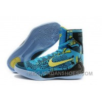 Nike Kobe 9 High 2015 Blue Yellow Black Mens Shoes Cheap To Buy TXsEG